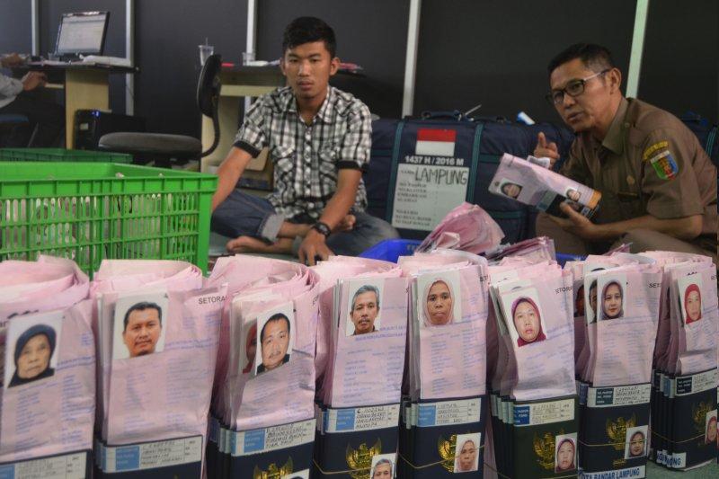 Persiapan pemberangkatan jemaah calon haji Lampung