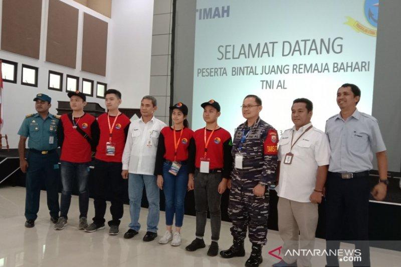 595 siswa BJRB TNI AL kunjungi PT Timah