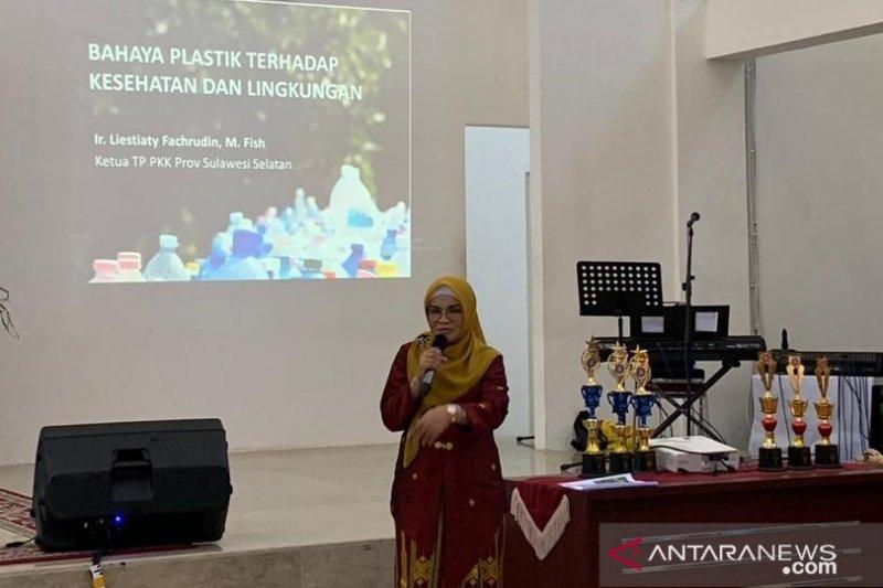 Ketua PKK minta  BKOW Sulsel reduksi sampah plastik