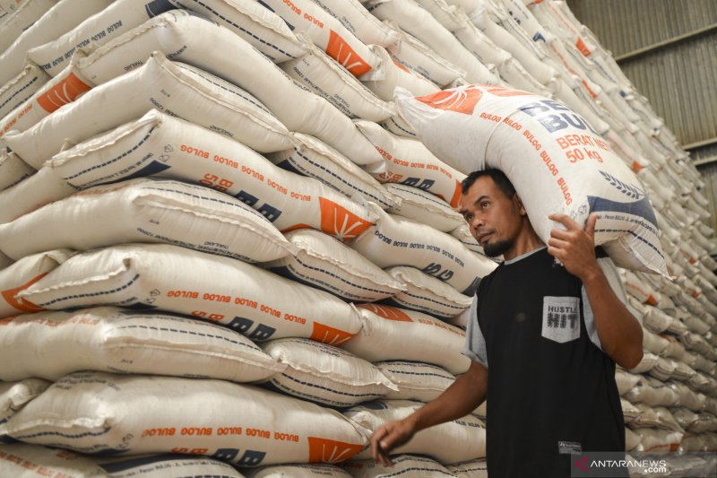 Bulog alami kelebihan stok beras akibat penyaluran beras di masyarakat tak seimbang
