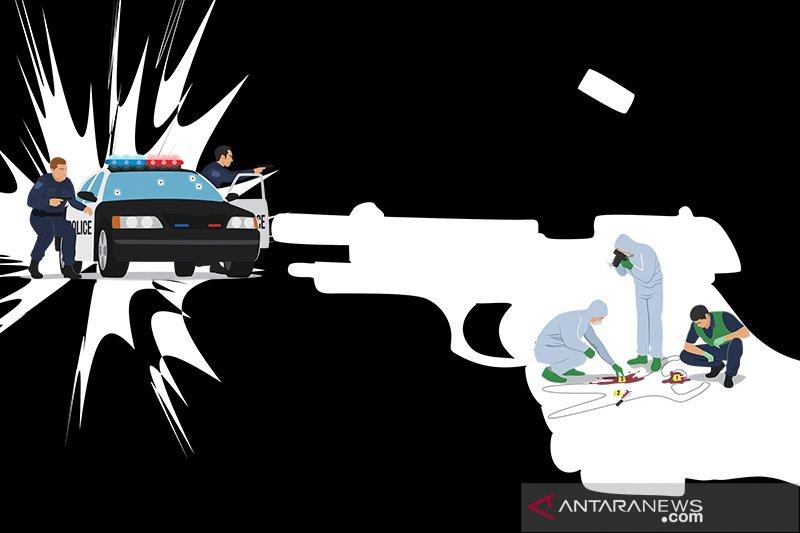 Polisi dan pencuri motor baku tembak, satu pelaku tewas