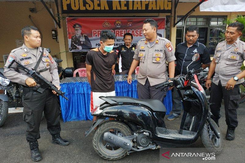 Pencuri sepeda motor di Sampit diciduk setelah aksinya terekam CCTV