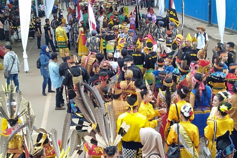 Karnaval budaya Banjarmasin tampil beragam