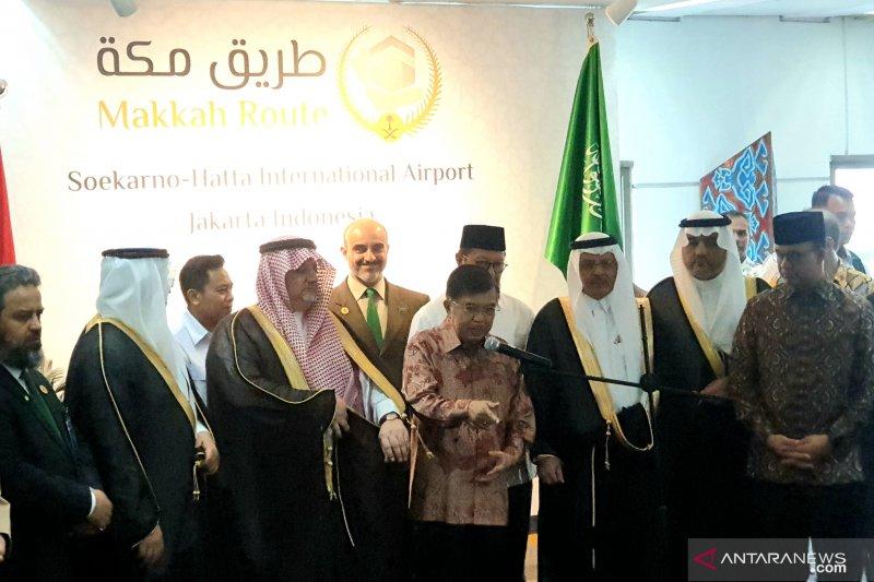 """Wapres  Jusuf Kala apresiasi layanan """"jalur cepat"""" bagi jamaah haji"""