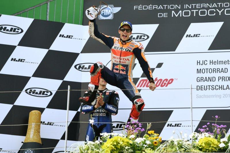 Marc Marquez juarai GP Jerman cetak rekor 10 kali menang beruntun