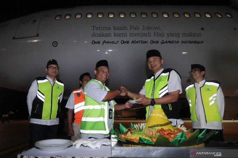 Pelepasan pesawat Garuda untuk Haji