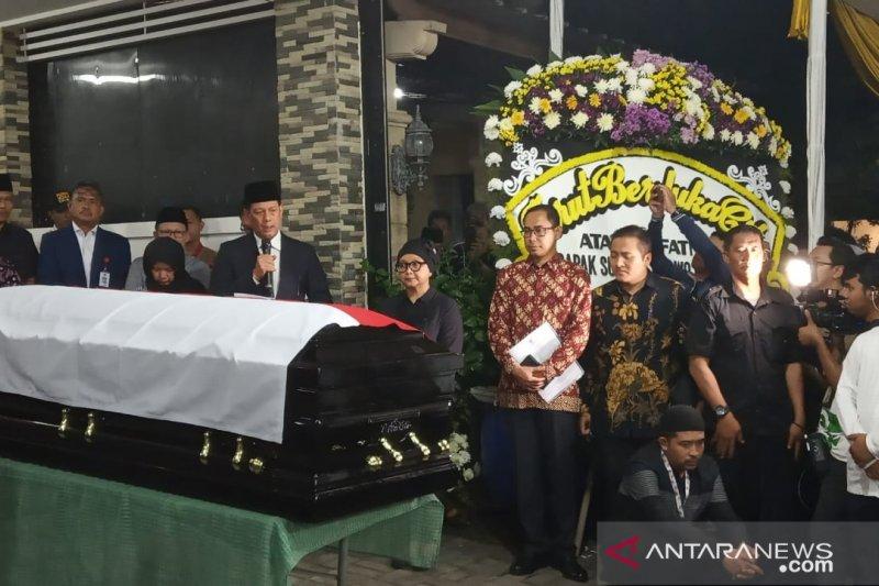 Jenazah Sutopo Purwo Nugroho tiba di rumah duka Depok