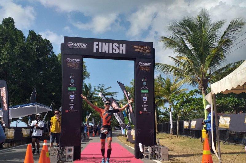 Jauhari Johan juara lomba duathlon Belitung Festival 2019