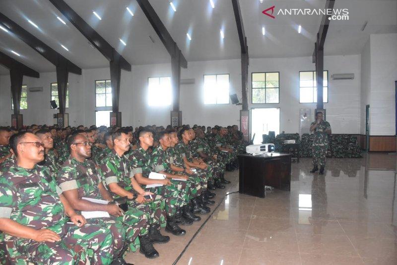 Kodam XVIII/Kasuari terima bantuan 412 personel kodim persiapan