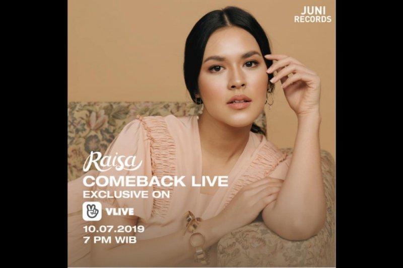 Raisa promosikan single melalui siaran layanan live streaming V LIVE