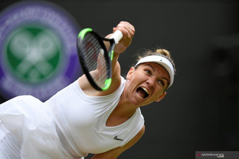Untuk pertama kalinya, Halep lolos ke semifinal Wimbledon