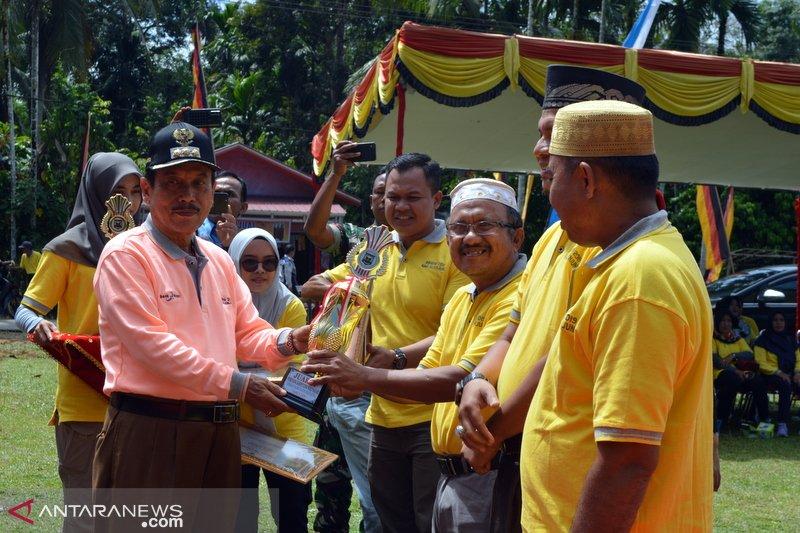 Mukhrin, Wali Nagari Tanjung terbaik se-Sijunjun 2019