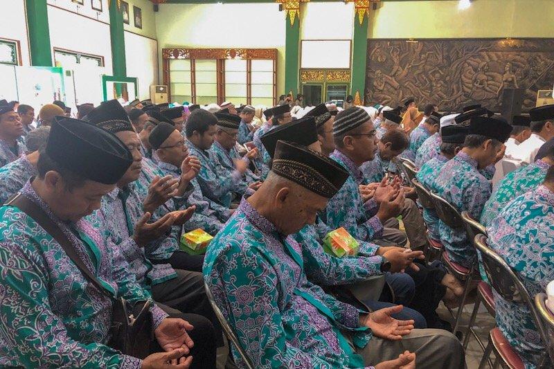Jamaah calon haji Yogyakarta menjalani pemantauan kesehatan dua tahun