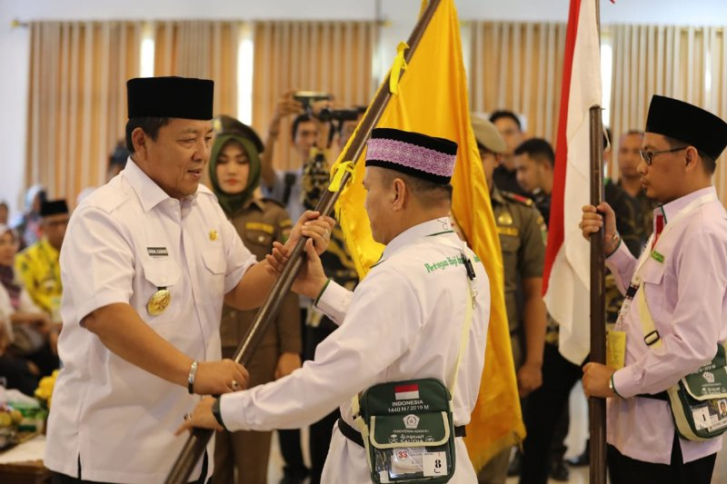 Gubernur Lampung lepas jemaah calon haji