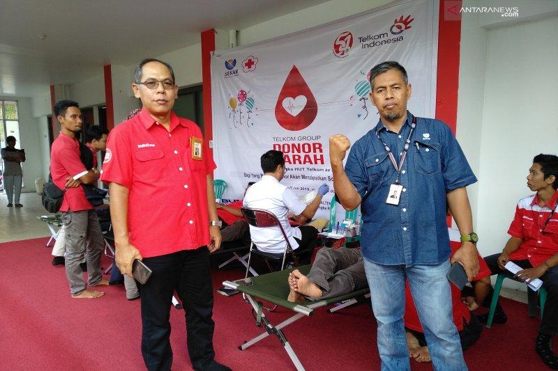 Sekar Telkom Kalteng gelar donor darah