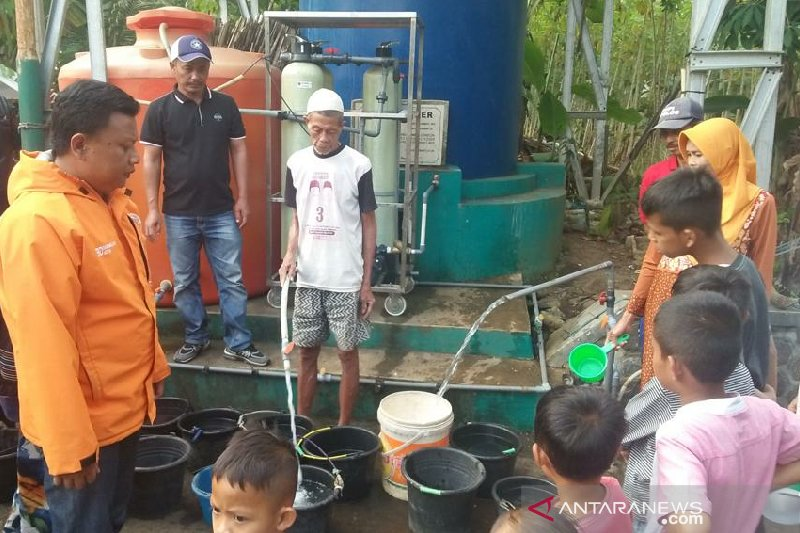 BPBD Kota Tasikmalaya pasang instalasi pengolahan air di daerah kekeringan