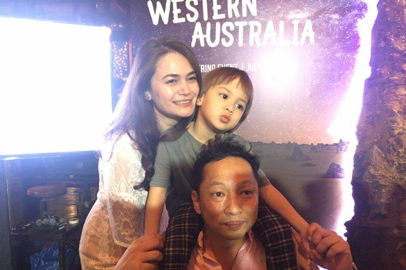 Aktor  Ringgo Agus berbagi kiat melancong bersama anak