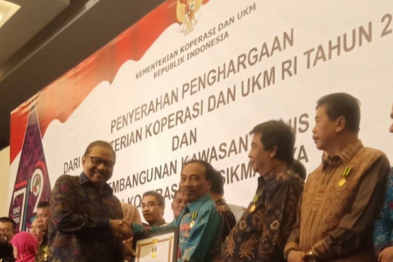 Kepala Dinas Koperasi UMKM Sleman meraih penghargaan Bhakti Koperasi