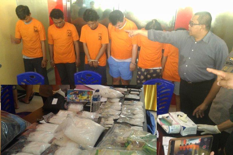 Polda Sulteng amankan 6 kilogram narkoba sepanjang 2019