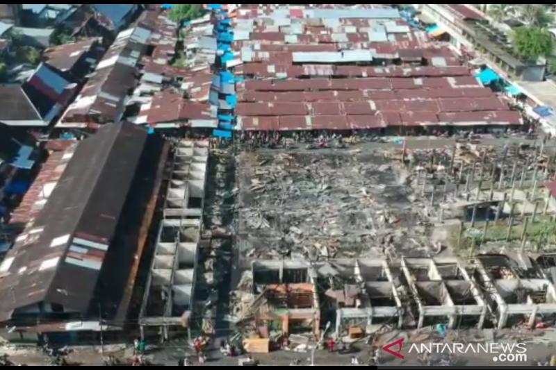 Kerugian kebakaran Pasar Lubuk Alung Padang Pariaman capai Rp2 miliar