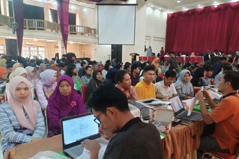 Ratusan calon mahasiswa Unsri ikuti verifikasi  penentuan uang kuliah
