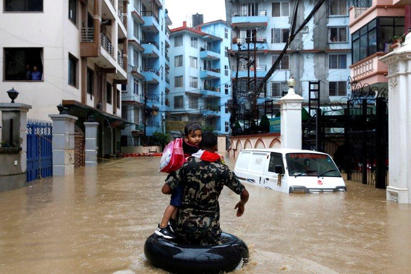 Banjir di Nepal, korban tewas jadi 47 orang