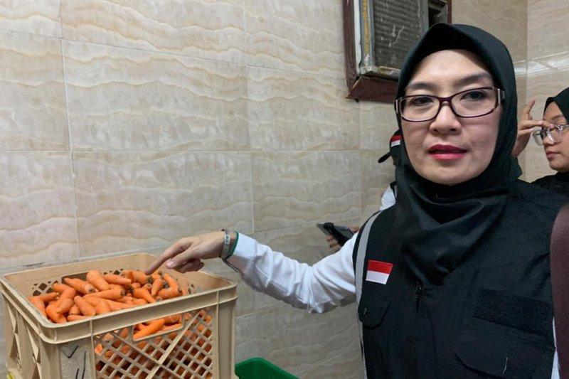 Pengawas katering STP Bandung ikut kontrol konsumsi jamaah