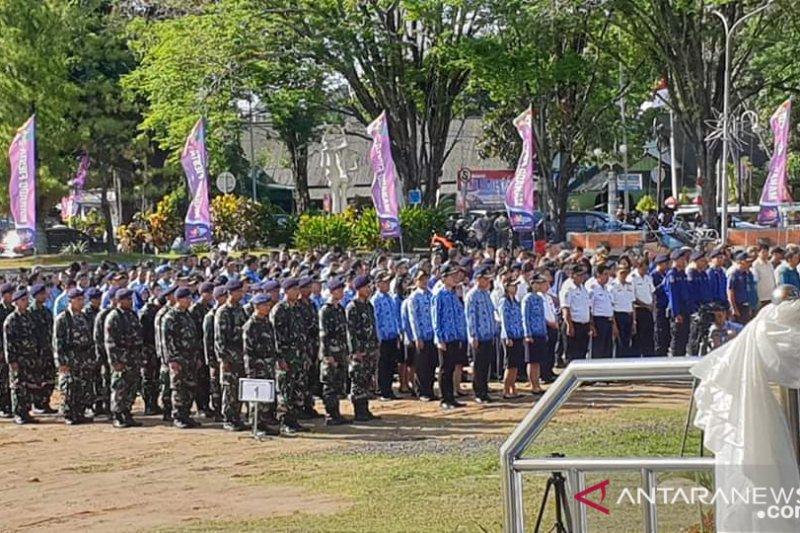 Pemkot gelar Upacara peringati HUT ke-396 Kota Manado