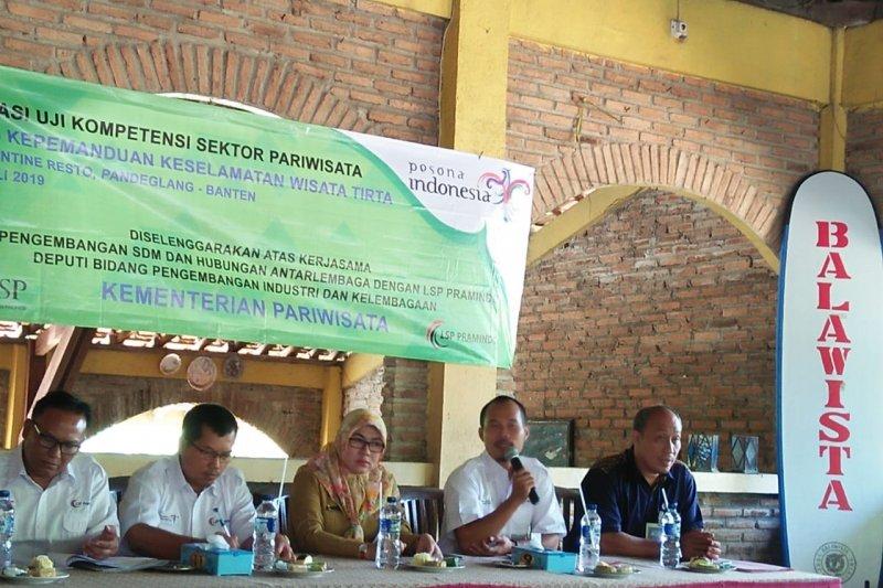 Balawista dan Kemenpar uji kompetensi pemandu keselamatan di Banten