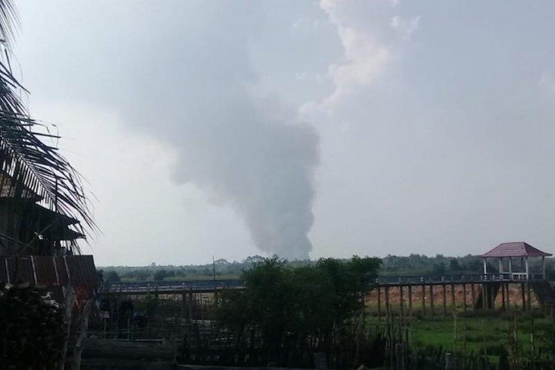 Kebakaran lahan gambut di PALI, Sumsel hanguskan dua hektare