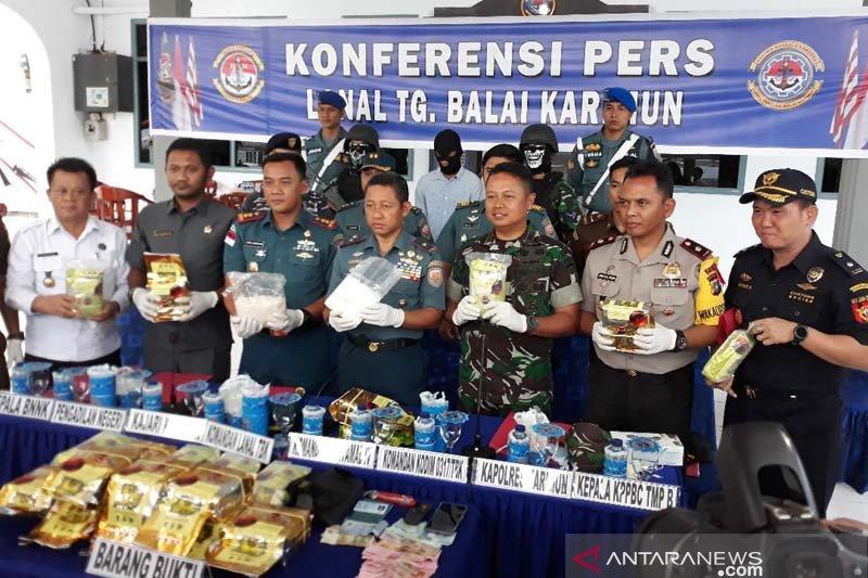 Tim F1QR Koarmada I tangkap penyelundup 21 kilogram sabu-sabu