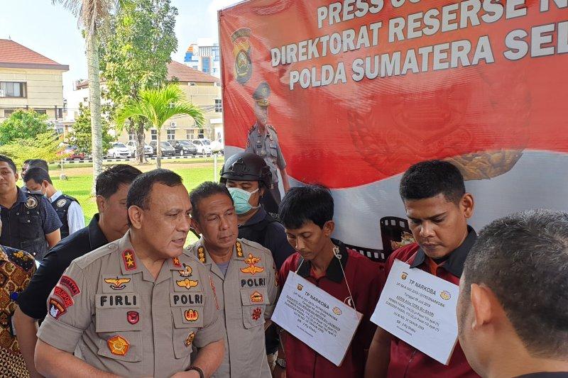 Polda Sumsel tangkap pengedar sabu-sabu jaringan Medan