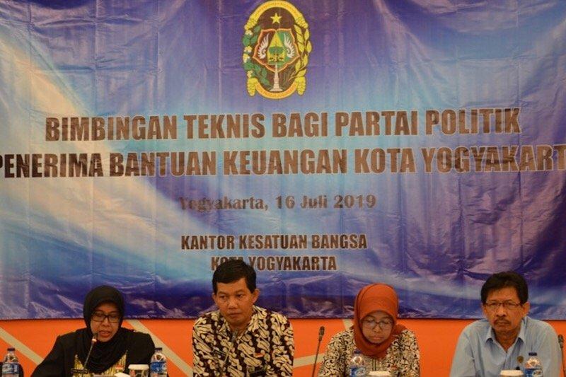 Yogyakarta mengajukan penambahan anggaran untuk bantuan keuangan parpol