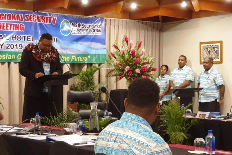 Dansat Brimob Papua hadiri pertemuan MSG di Fiji Island