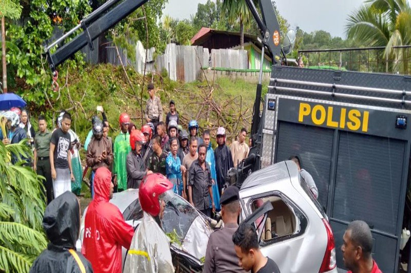 Anggota Polda Papua tewas tertimpa pohon di kawasan Nirwana Jayapura