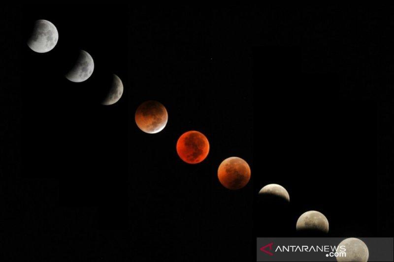 Lapan Agam observed a partial lunar eclipse at Payakumbuh