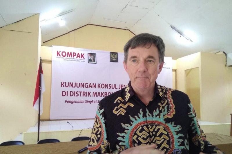 Konjen Australia kunjungi Distrik  Makbon Sorong pengguna aplikasi SAIK