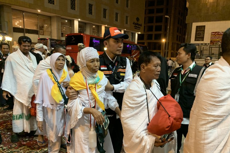 60.000 orang lebih jamaah calon haji Indonesia telah tiba di Tanah Suci