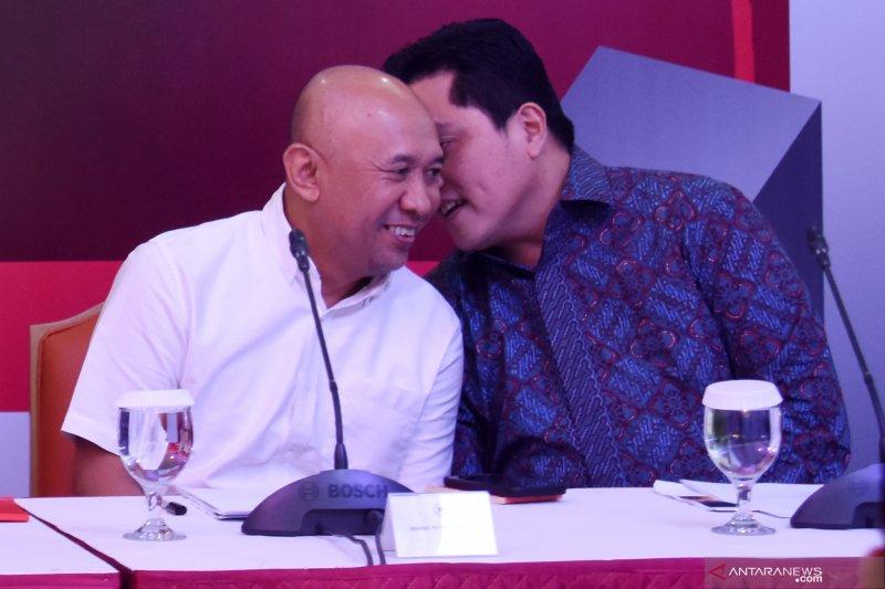Erick Thohir mengaku tidak ada pembicaraan kabinet dengan Jusuf Kalla
