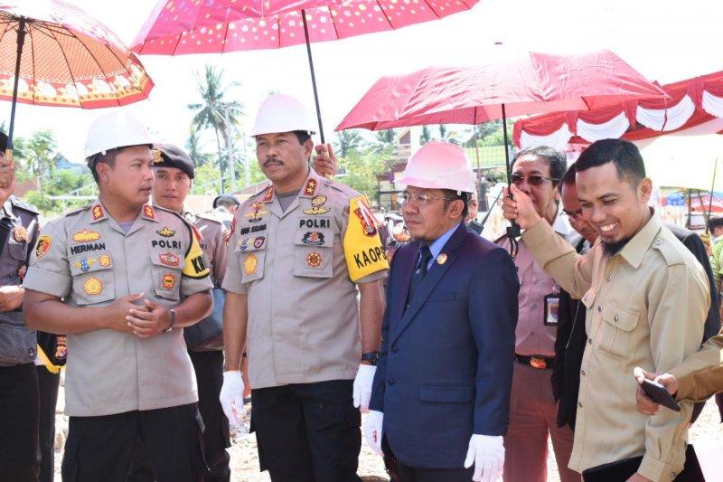 Pembangunan mako dan rusun Polres Lombok Utara dimulai