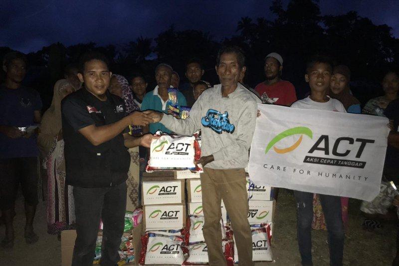 Act Berikan Bantuan Kepada 300 Kk Korban Gempa Maluku Utara