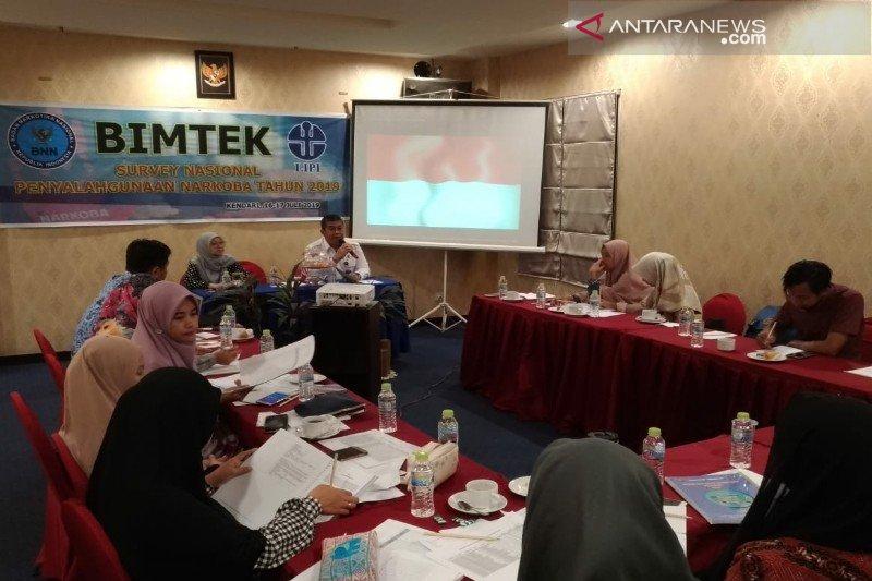 BNNP Sulawesi Tenggara gelar bimtek survei nasional penyalahgunaan narkoba