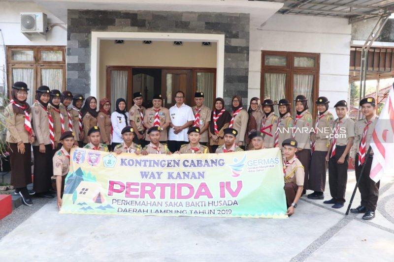 Kwarcab Waykanan lepas kontingen Pertida IV Provinsi Lampung