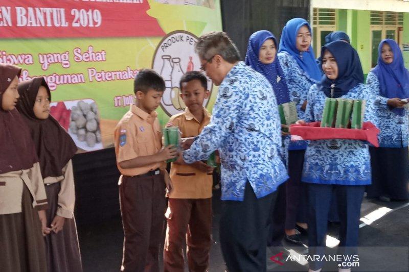 Bantul memkenalkan beragam produk peternakan kepada siswa sekolah dasar