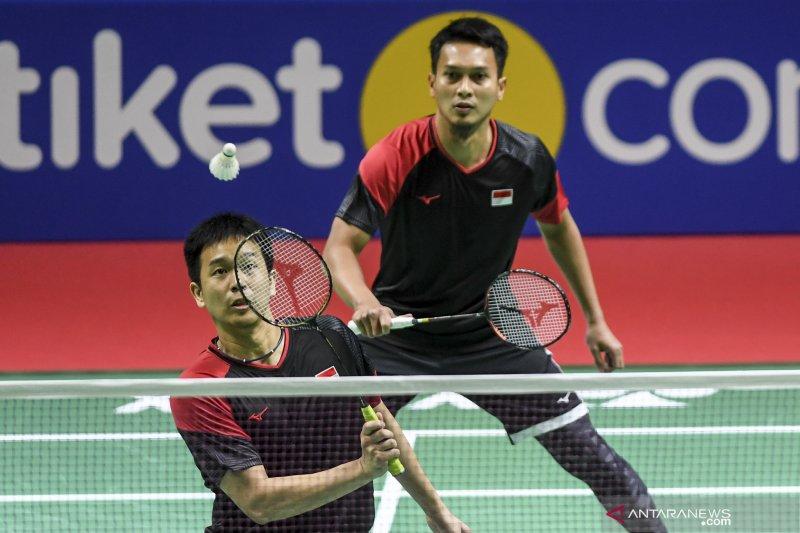 Endo/Watanabe tantang Ahsan/Hendra di perempat final Indonesia Open 2019