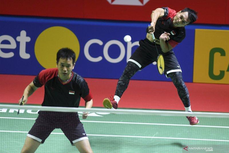 Ganda putra Ahsan/Hendra ke perempat final Indonesia Open 2019