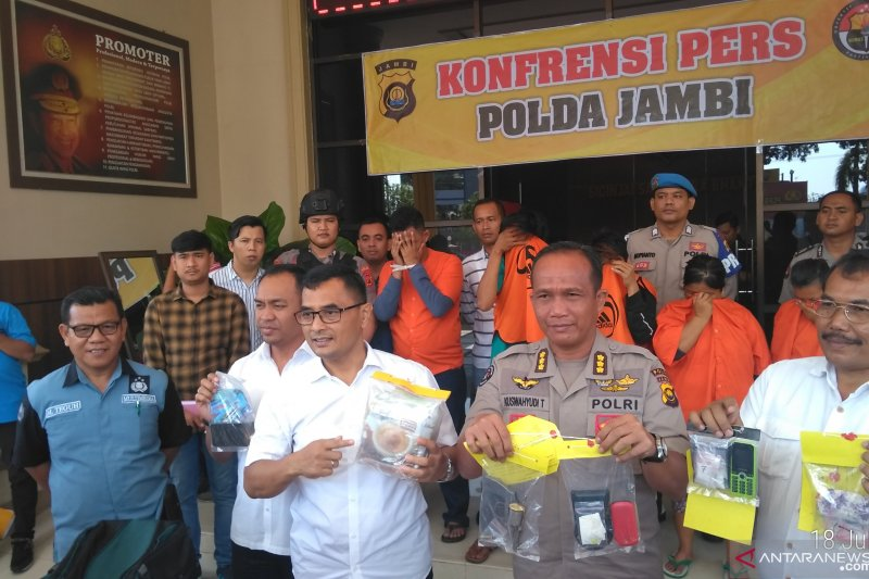 Polda Jambi tangkap anggota sindikat sabu Malaysia
