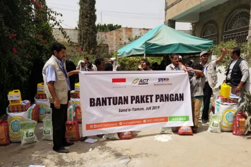 Redam krisis pangan, ACT berikan bantuan pangan ke Yaman