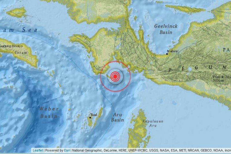 Gempa bumi 3.5 SR guncang Kaimana