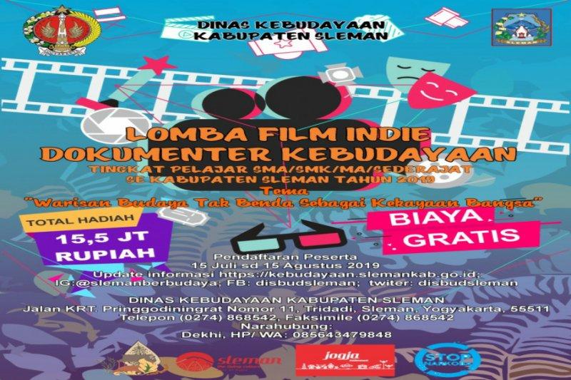 Dinas Kebudayaan Sleman menggelar lomba film indie untuk SMA